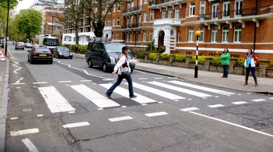 Running across Abbey Road