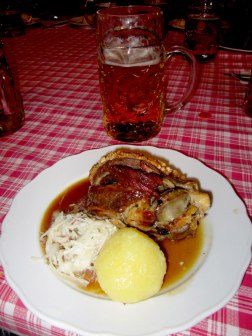 Pork knuckle dinner