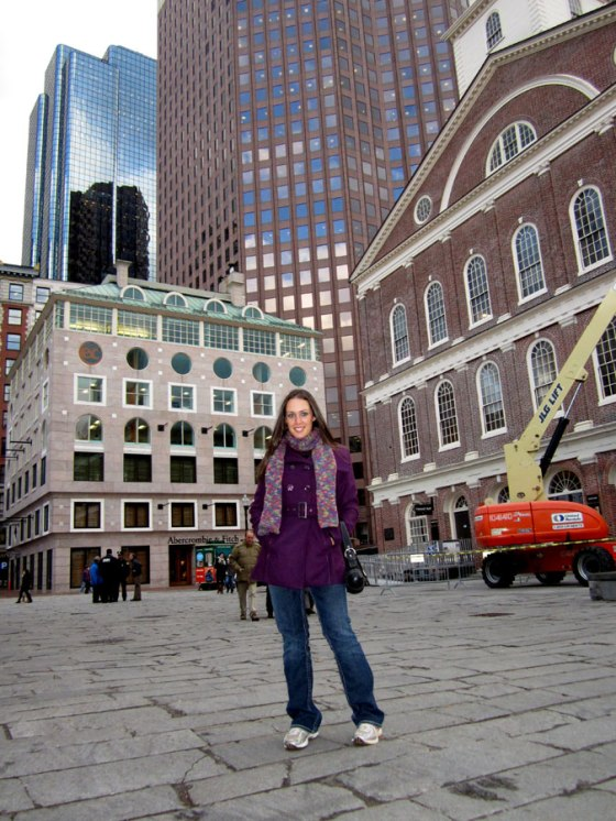 Boston outside Quincy Market