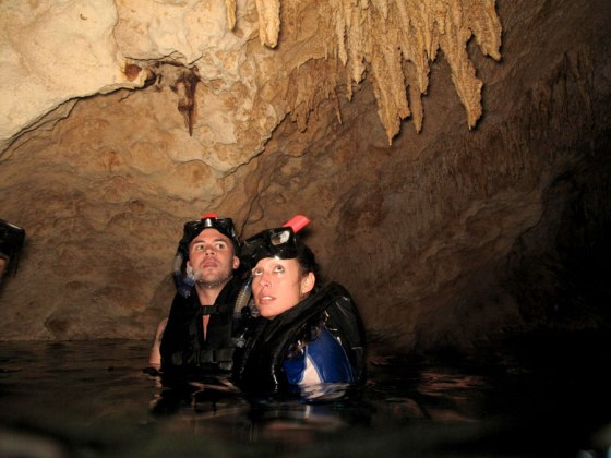Troy and me in the Nohoch Nah Chich cenote