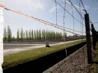 Barbed fencing at Dachau