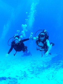 Dad and me diving in Cozumel