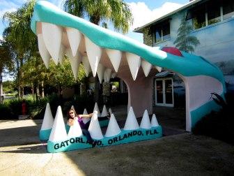 The entrance of Gatorland