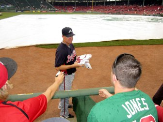 Troy meeting Chipper Jones
