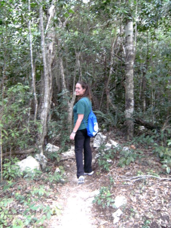 Hiking the jungle