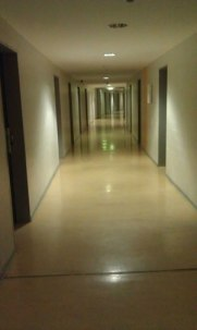 Hostel hallways are creepy