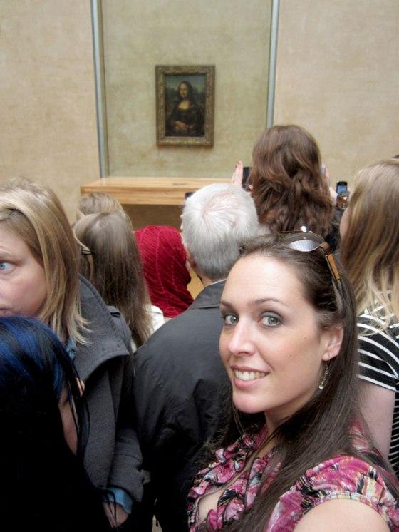 The Mona Lisa. She was tiny!