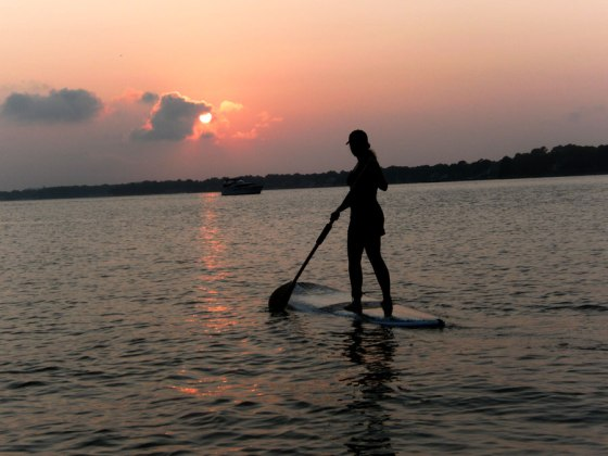 Sunset Paddleboarding