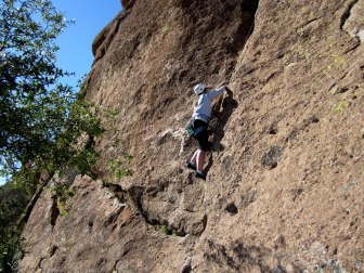 Queen Creek Canyon rock climbing