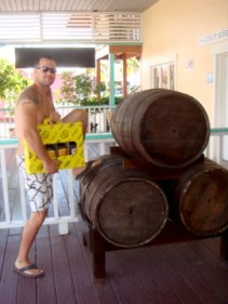 Troy buying our rum in Freeport