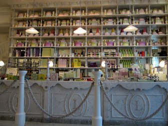 Inside the tea room at Harrods