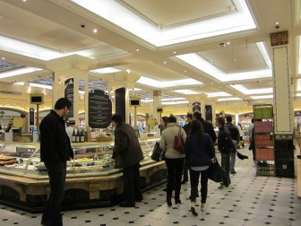 Food shopping in Harrods