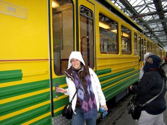 Train ride to Jungfraujoch