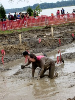 Mud crawl at the Warrior Dash