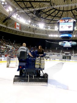 Zamboni ride at the Norfolk Admirals game