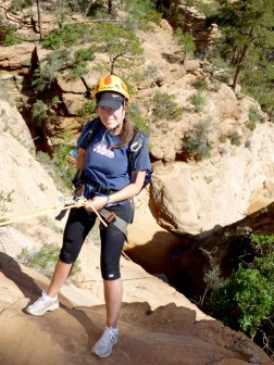 First rappel in Water Canyon