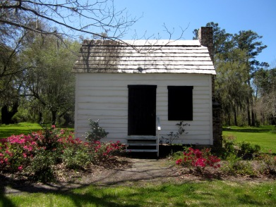 The slave houses at the Magnolia plantation