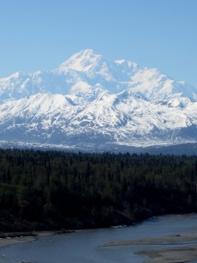 Denali. Rare to see the full mountain. I was able to see it over two days! Lucky!!