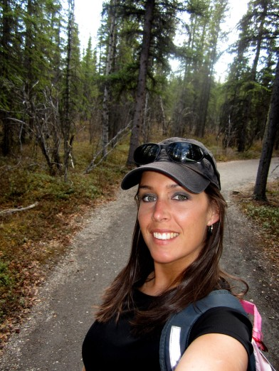 On one of the small hiking trails in Denali National Park