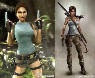 Old School Lara Croft vs 2013 Lara Croft