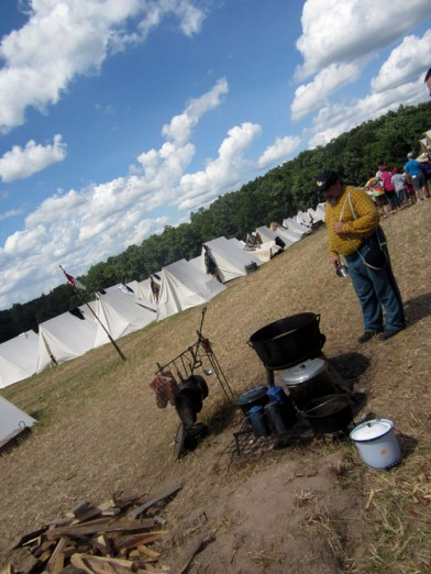 At the Gettysburg Reenactment camp site