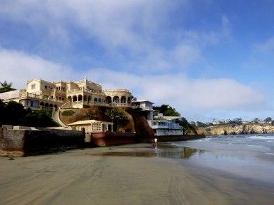 Sand castle like house on La Jolla beach