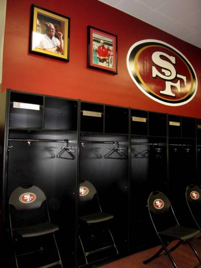 49ers locker room