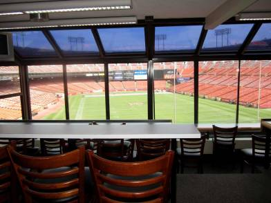 49ers Luxury Box. About $20,000 A GAME to use