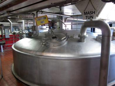 Inside the beer making room