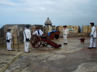 El Morro Fort in Old San Juan: canon demonstration