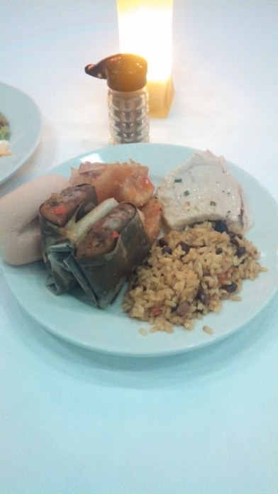 Puerto Rican buffet at the resort