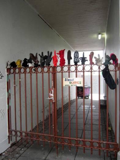 Gate in Reykjavik for all the missing gloves