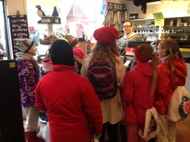 Kids singing for candy on Ash Wednesday in Reykjavik. Almost like Halloween