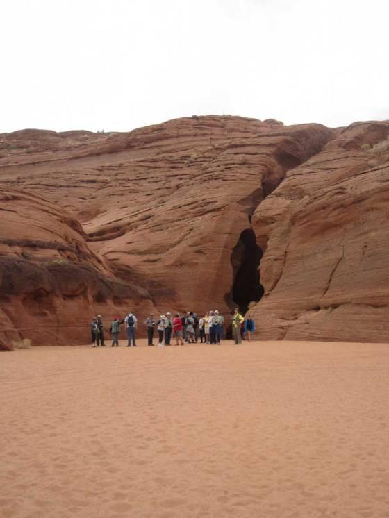 Entrance to the slot canyon