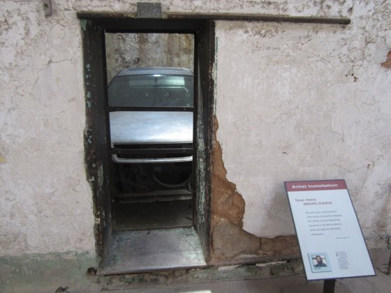 Car inside a cell for the art installation there