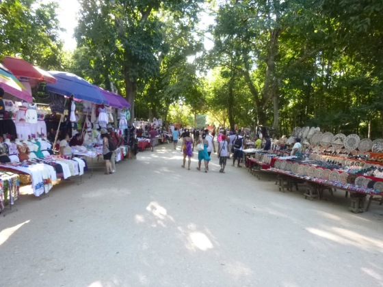 The MANY street vendors at Chichen Itza