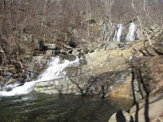 Upper and lower falls - White Oak Canyon Hike