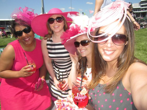 Lina, Katie, Krista and I at the Oaks