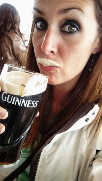 Guinness milk mustache