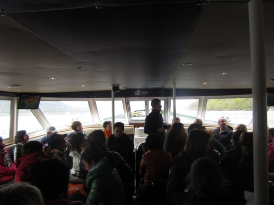Talking about the sonar on board