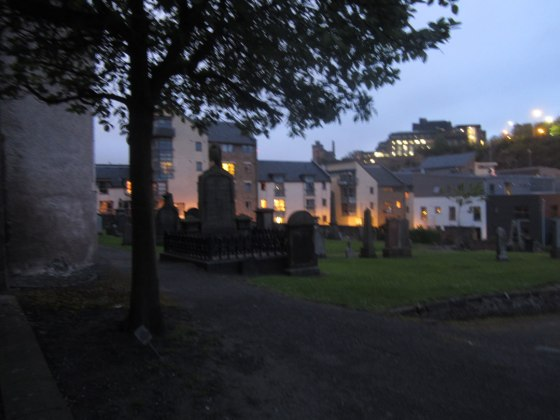 Ghost tour at the graveyard