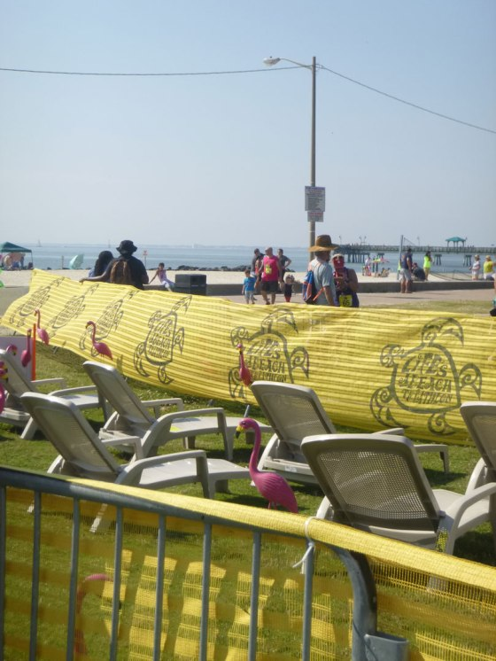The jumping lounge chairs obstacle