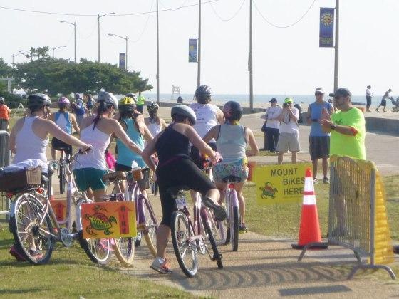 The bike portion