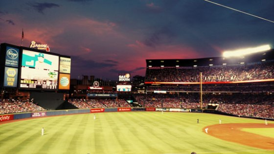 Turner Field at Sunset