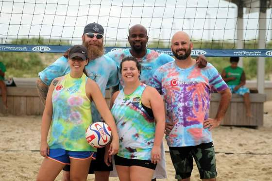 TEAM KISS MY ACE: Dwight, Aaron J, Aaron T, Amanda and me