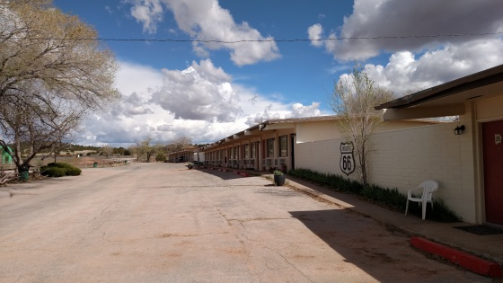 Our Route 66 hotel. SCARY