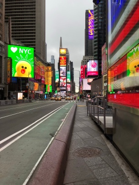 Times Square during the morning is not nearly as chaotic